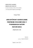 prikaz prve stranice dokumenta Specifičnost kondicijske pripreme nogometaša u turnirskom načinu natjecanja